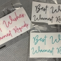 Best Wishes Removable Decal