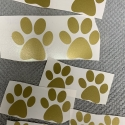 Dog Paws Removable Decals