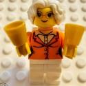 08 LADY ORANGE JACKET WHITE HAIR