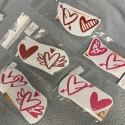 Hearts (2) Removable Decal